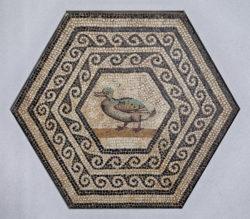 mosaico romano pato, canard