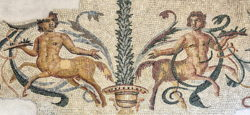 mosaico romano con centauros
