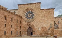 fachada monasterio santa maría de huerta