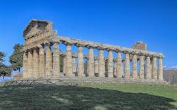 paestum, tempio di atena