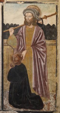 detalle pinturas sacra di san michele
