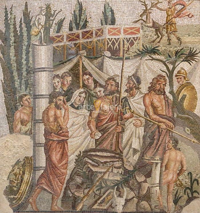 mosaico del sacrificio de ifigenia
