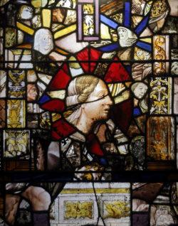 vidriera abadía de fontfroide