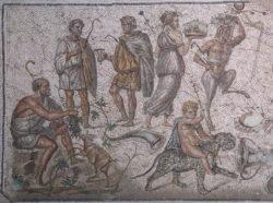 mosaico del don del vino