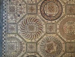 mosaico romano, nudo de salomón