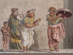 mosaico romano de los músicos