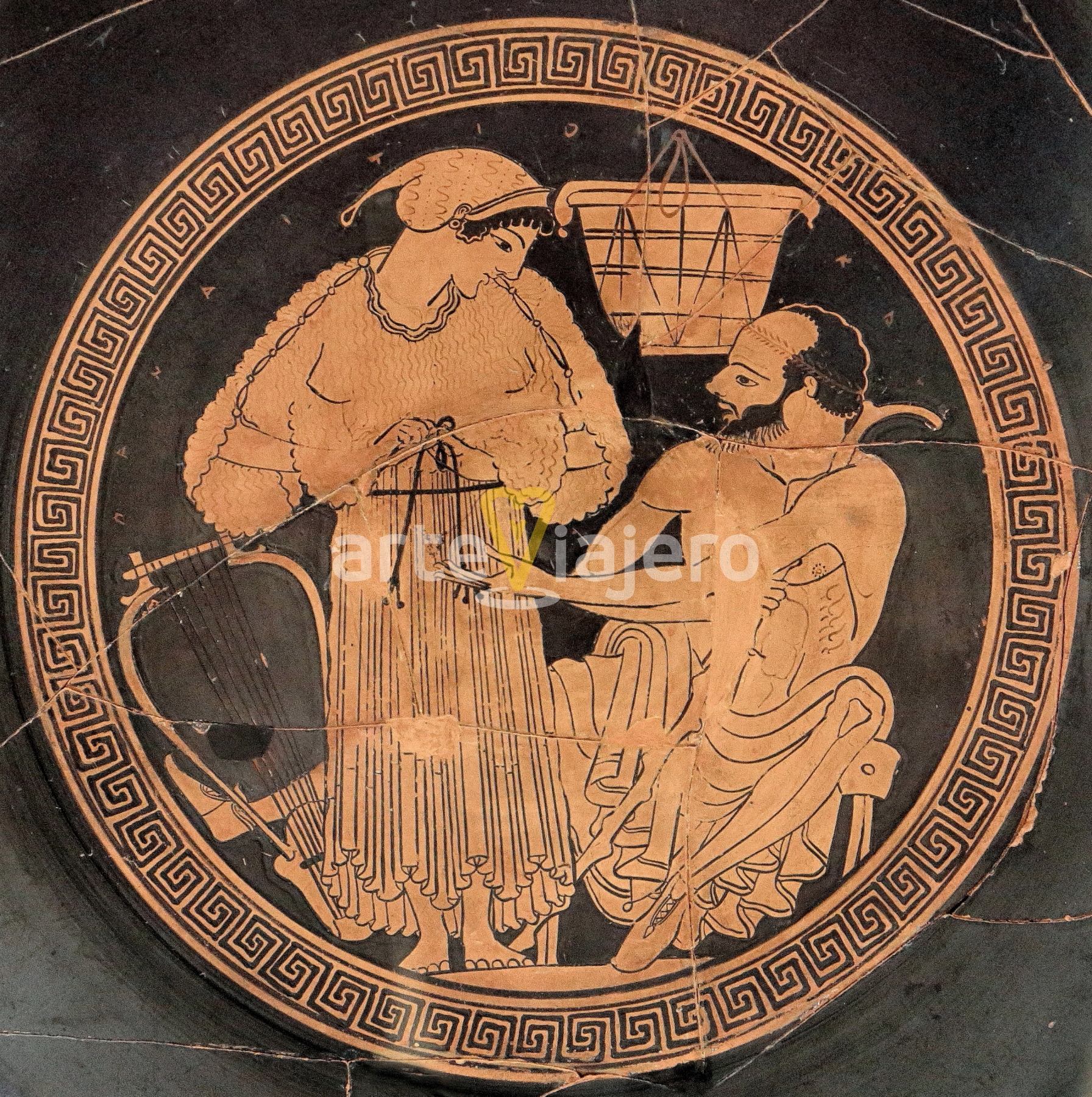 kylix firmado por euphronios