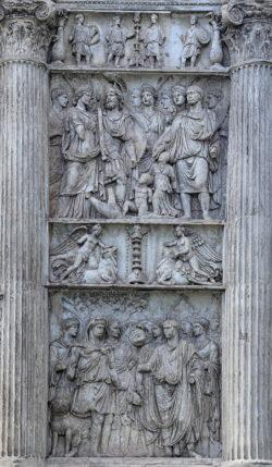 escultura, arco de trajano