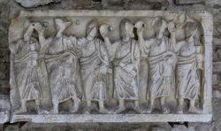 sarcófago romano, vaison la romaine