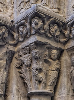 dios creando las plantas, capitel románico