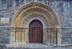 portada románica, santa maría la real de piasca