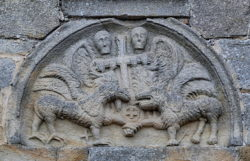 tímpano de la iglesia de santa maría de retortillo