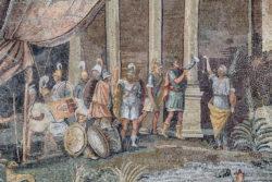 mosaico con soldados