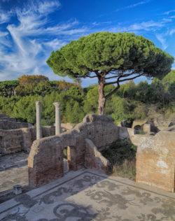 mosaicos romanos al aire libre