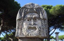 máscara del teatro de ostia antica
