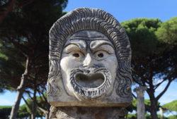 máscara del teatro romano