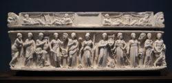 sarcófago de las musas ostia antica
