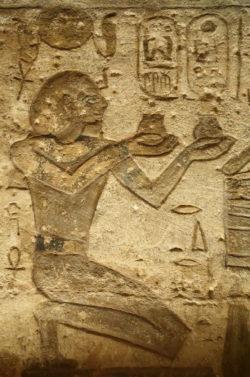 ofrendas templo egipcio