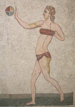 mosaico de las chicas en bikini