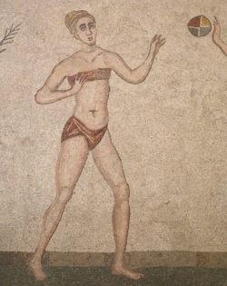 mosaico con chica en bikini