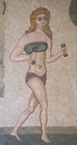 mosaico con gimnasta