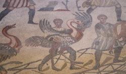 mosaico con avestruz