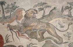 mosaico león