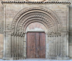 portada románica salas