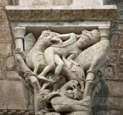bestiario medieval románico