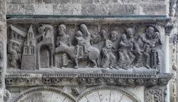 relieve románico moissac