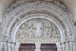 tímpano románico de la catedral de autun