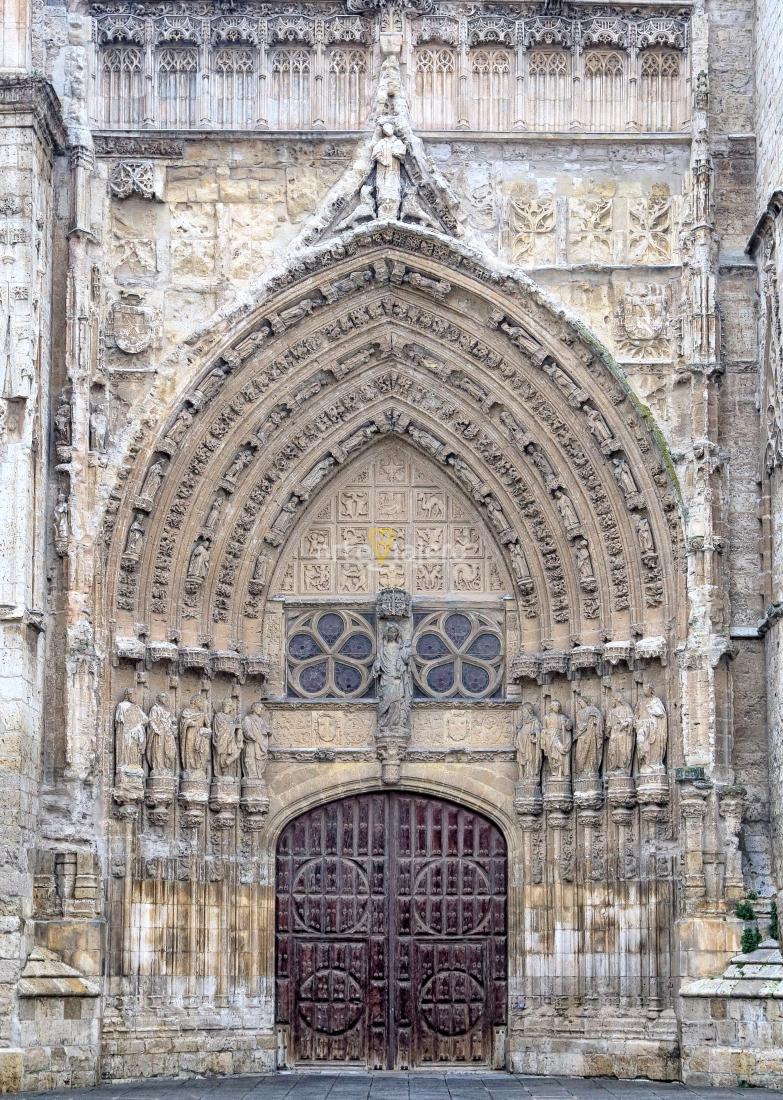 portada gótica catedral de palencia