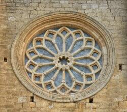 rosetón gótico villalcázar