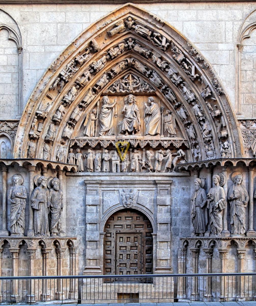 puerta de la coronería catedral de burgos