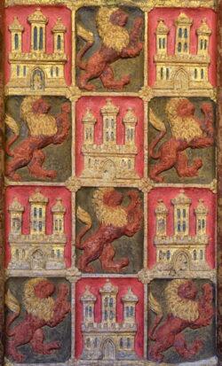 castillos y leones heráldicos