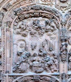 fachada principal de la catedral nueva de salamanca