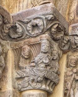 unción de betania en el arte románico