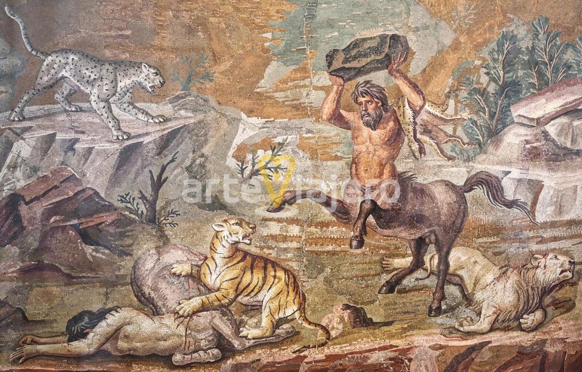 mosaico de los centauros