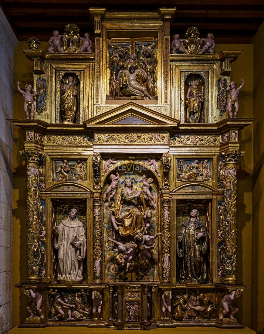retablo del monasterio de santa maría la real de vileña